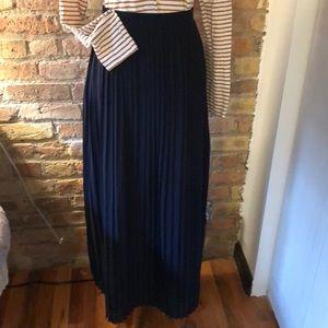 J.Crew Factory Pleated Maxi Skirt